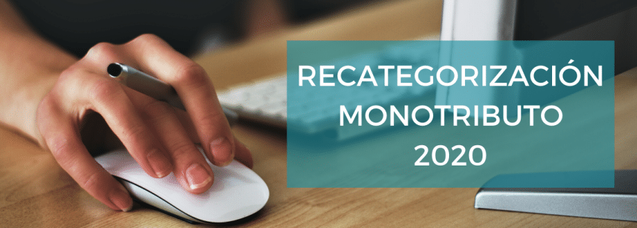 Recategorización Monotributo Enero 2020