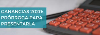ganancias 2020 prórroga