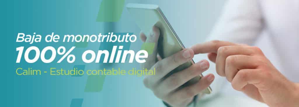 baja monotributo online contador estudio contable