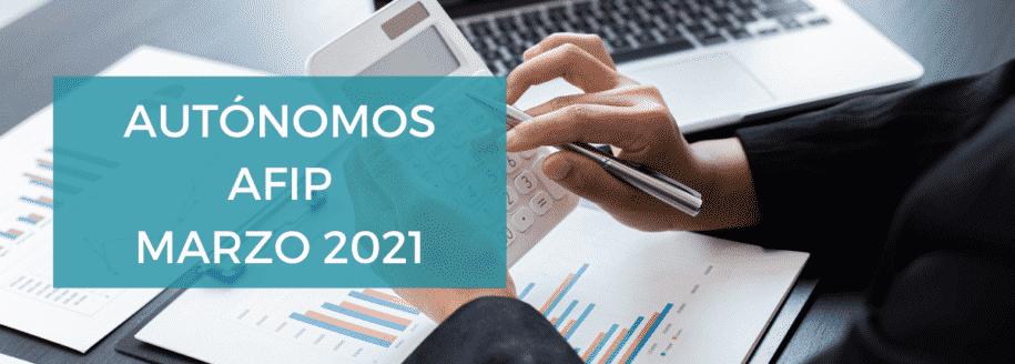 autónomos categorías marzo 2021