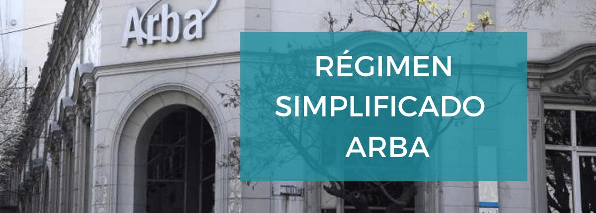 Régimen simplificado Arba